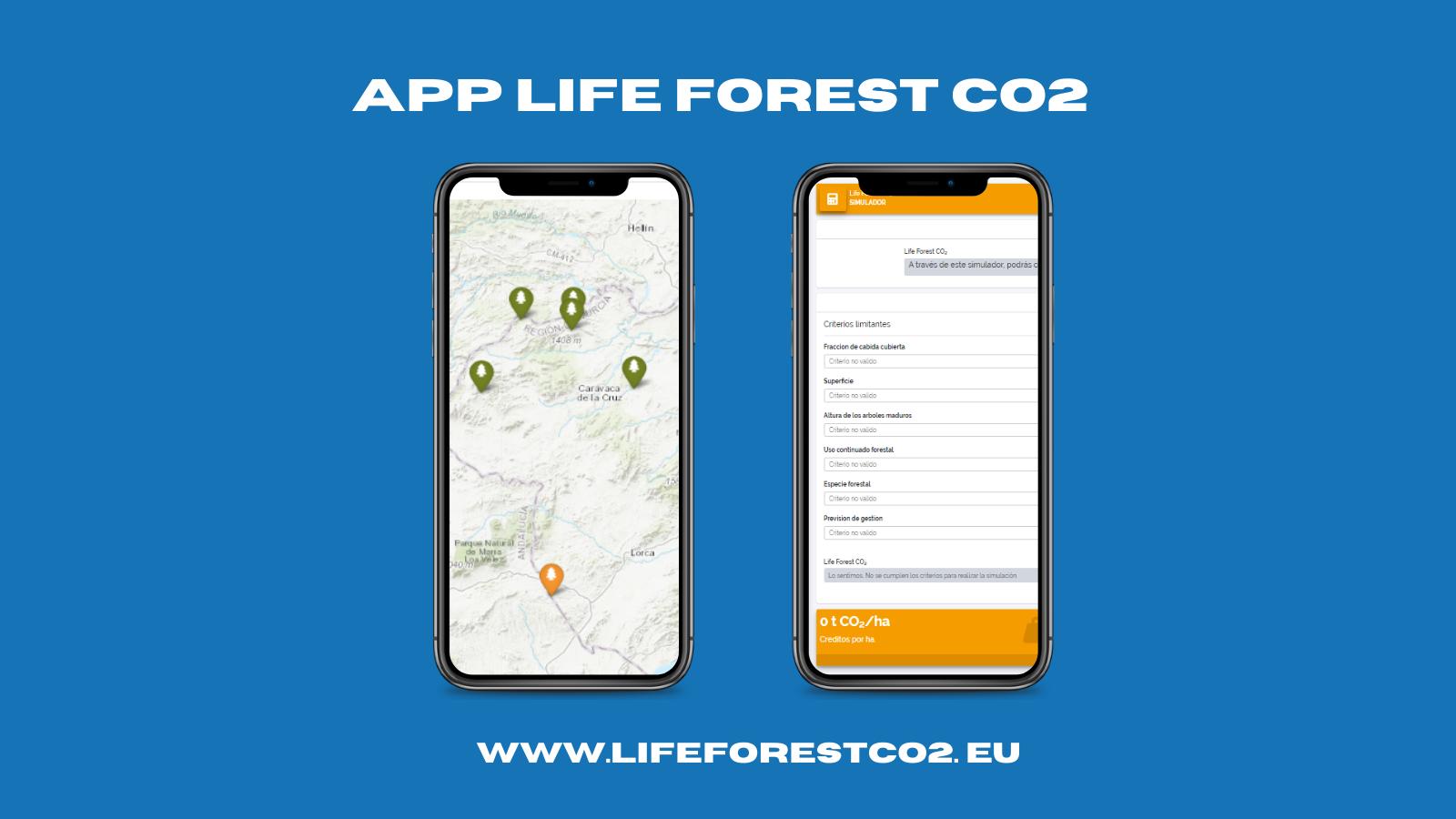 DESCUBRE LA APP LIFE FOREST CO2